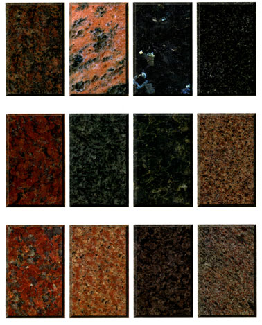 Granite Types : Granite Colors Portrait Memorials